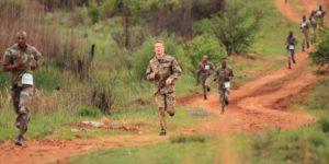 Geländelauf in Südafrika
